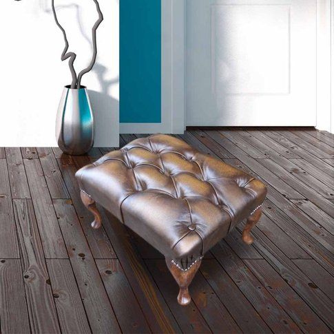 Chesterfield Queen Anne Footstool Uk Manufactured An...