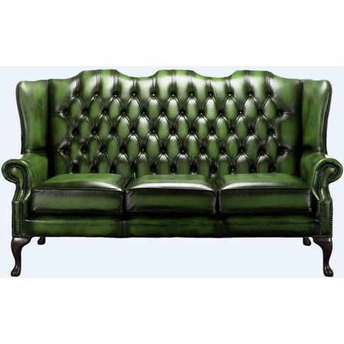 Chesterfield High Back Mallory 3 Seater Sofa Antique...