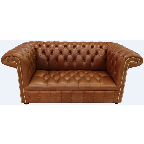 Chesterfield 1857 2 Seater Buttoned Seat Leather Sof...