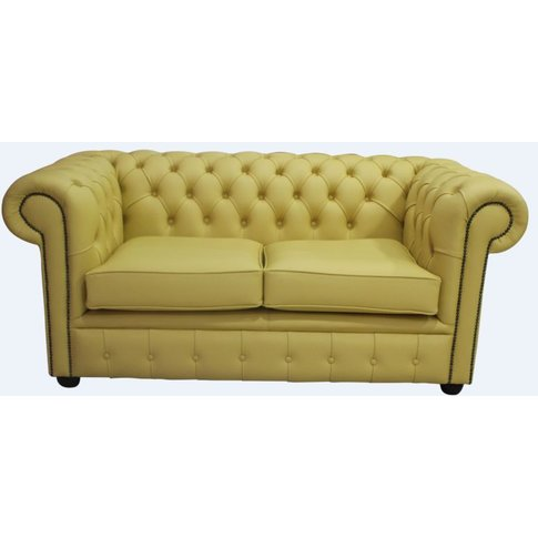 Chesterfield 2 Seater Sofa Settee Shelly Deluca Yell...