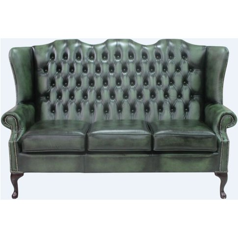 Chesterfield 3 Seater Mallory Queen Anne High Back Wing Sofa&Hellip;