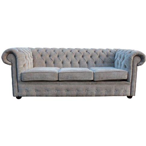Chesterfield 3 Seater Settee Sofa Bed Velluto Hessia...