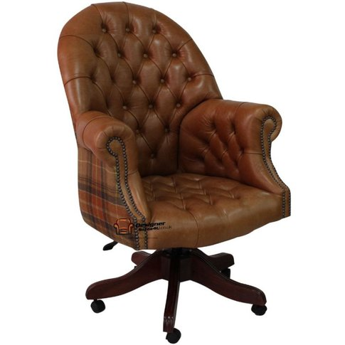 Chesterfield Directors Leather Office Chair Old English&Hellip;