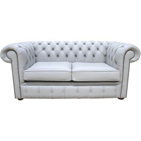 Chesterfield 2 Seater Sofa Settee Vele Huxley Grey L...