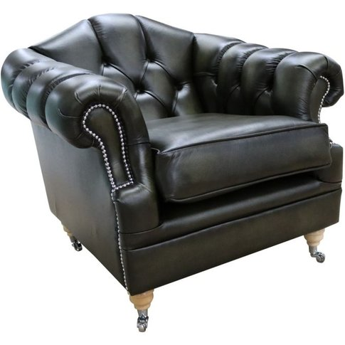 Chesterfield Victoria Leather Armchair Antique Olive...