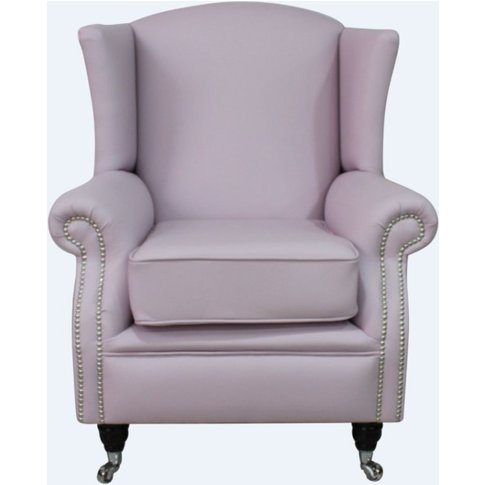 Southwold Wing Chair Fireside High Back Leather Armc...