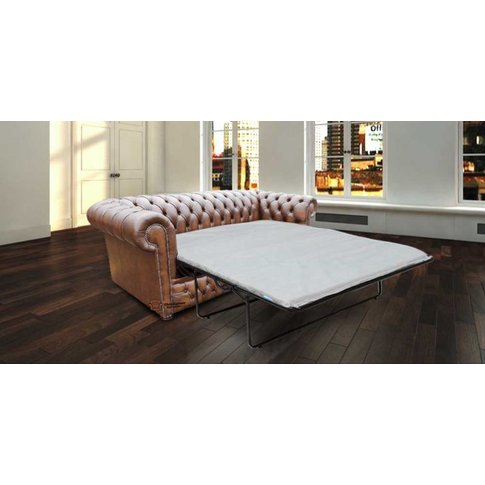 Chesterfield Heaton 3 Seater Sofabed Settee Antique ...
