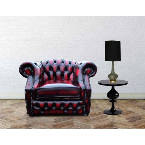 Rub Off Antique Oxblood Leather Chesterfield Oxford ...