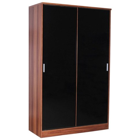 Ottawa Black High Gloss Sliding Wardrobe