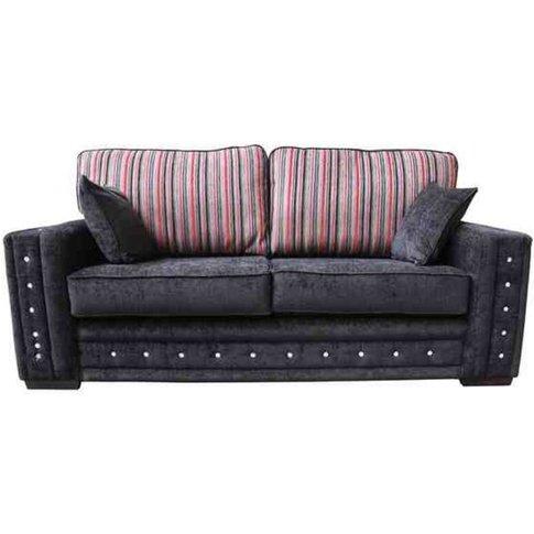 Envy Diamante Crystal 3 Seater Fabric Sofa Upholster...