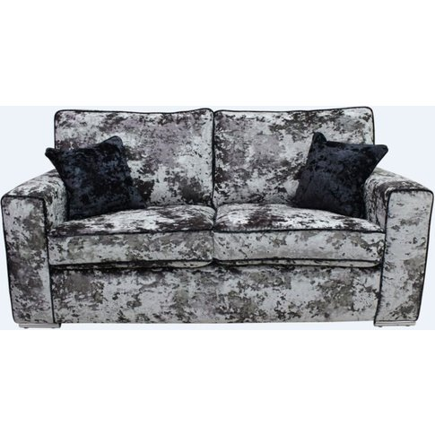 Glastonbury 2 Seater Settee Lustro Flint Grey Velvet...