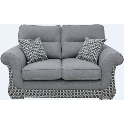 Luna 2 Seater Fabric Sofa Settee Upholstered In Hali...