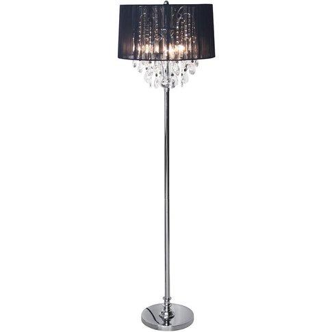 Stephanie Three Light Standard Floor Lamp Chrome Fin...