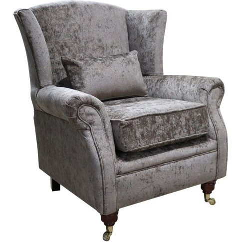 Wing Chair Fireside High Back Armchair Nuovo Chestnu...