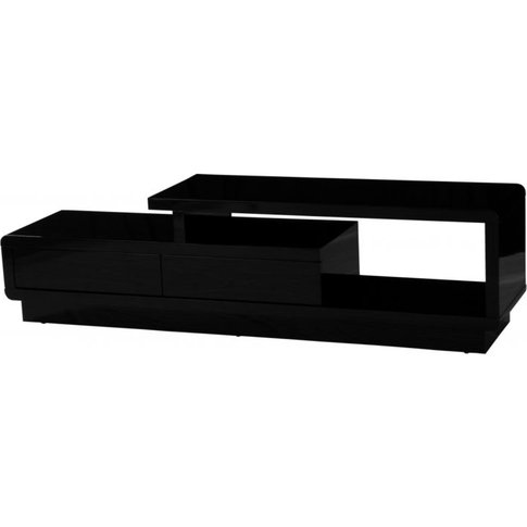 Aletta High Gloss Tv Cabinet With Push Open Drawers