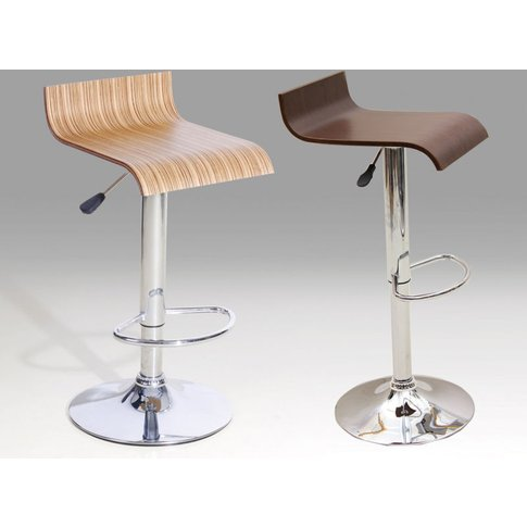 2 X Bar Stool Chrome Model 6 Available In Beech Or W...