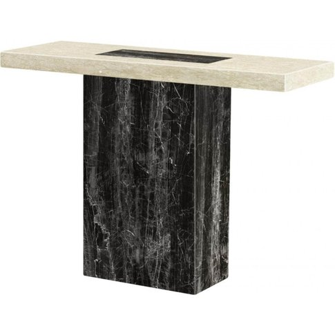 Henrika Marble Console Table Natural Stone With Lacq...