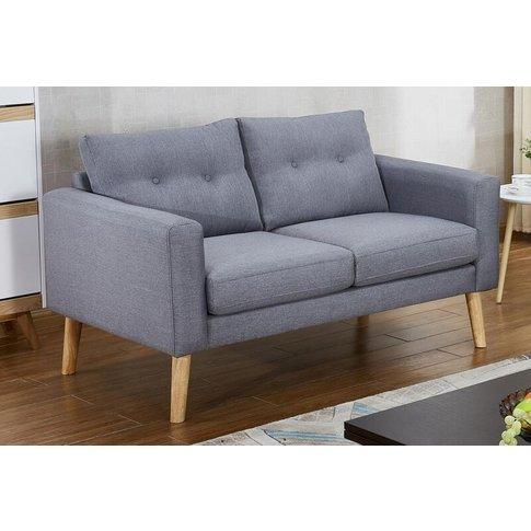Mary Grey Fabric 2 Seater Sofa
