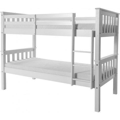 Ingmar White Wash Single Bunk Bed