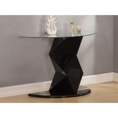 Rowley Black High Gloss Console Table