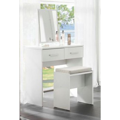 Topline Dressing Table With Mirror & Stool