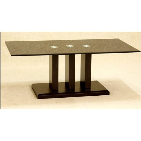 Troy Coffee Table In Black Glass