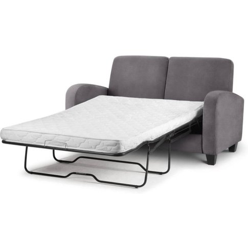 Albin 2 Seater Sofabed In Dusk Grey Chenille Fabric