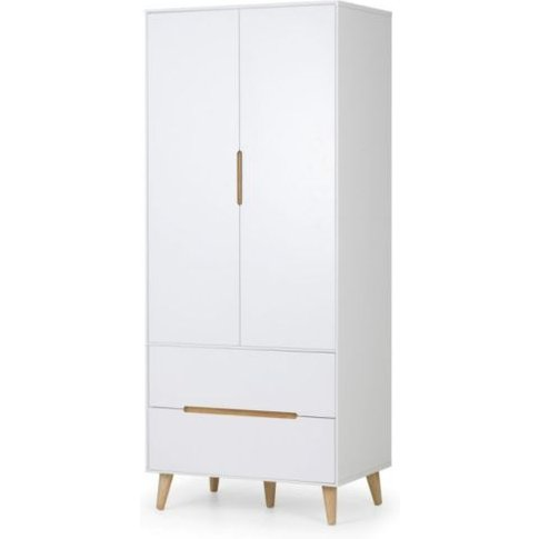 Adolph 2 Doors And 2 Drawers White Combination Wardr...