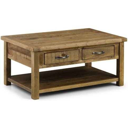 Aspen Coffee Table With 2 Drawers Assembled