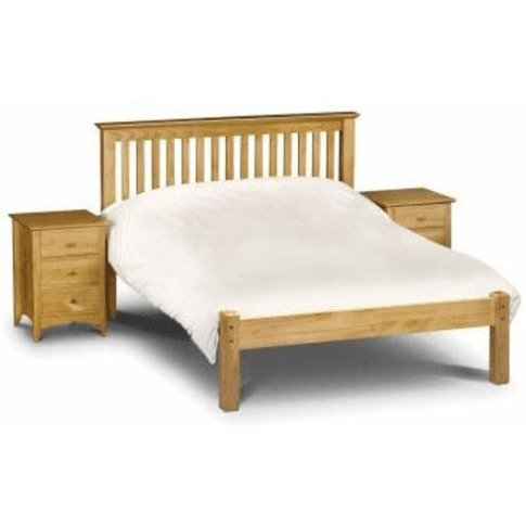 Barcelona Double Bed Solid Pine Wooden Low Foot End