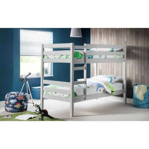 Carina Solid Pine Dove Grey Bunk Bed