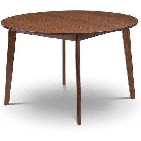 Fabio Solid Beech Circular Dining Table With Walnut ...