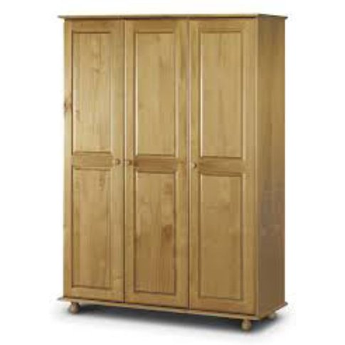 Andenon Solid Pine 3 Door Fitted Wardrobe