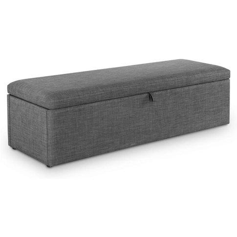 Sorrento Blanket Box - Slate Grey Linen