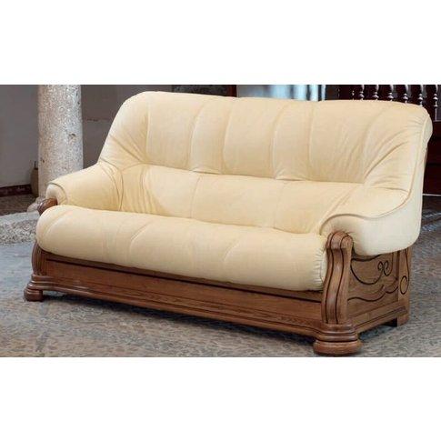 Cambrils 3 Seater Hielo Genuine Italian Leather Sofa...