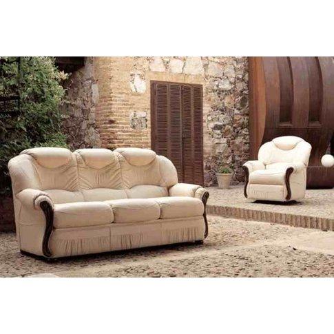 Tropic 3+1+1 Genuine Reclining Manual Italian Sofa S...