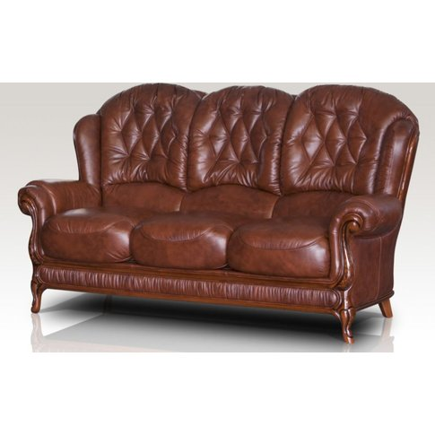 Jupiter Range Genuine Italian Leather 3 Seater Sofa ...