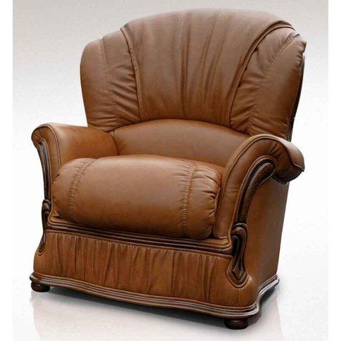 Delaware Armchair Genuine Italian Tan Leather Offer