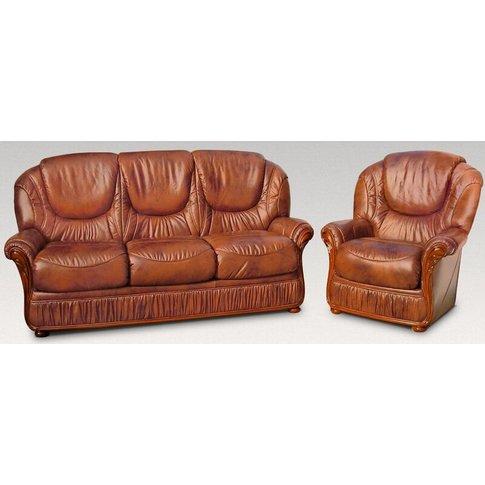 Florida 3 Seater + Armchair + Armchair Genuine Itali...