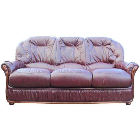 Indiana Genuine Italian Leather 3 Seater Sofa Settee...