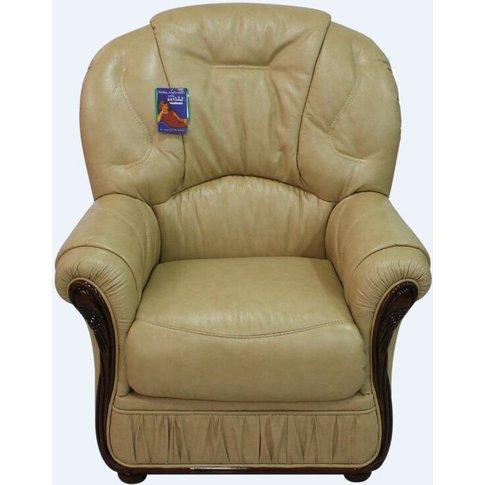 Debora Genuine Italian Sofa Leather Armchair Nut Colour