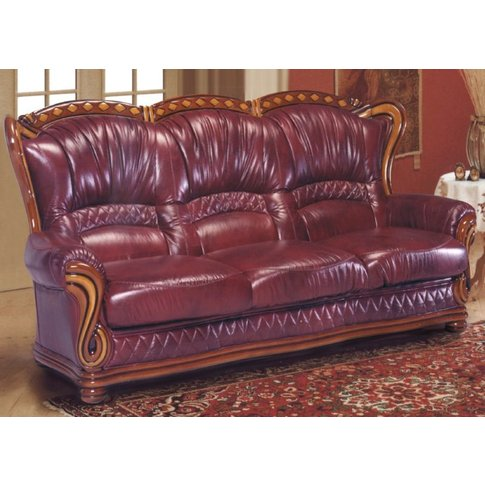 Incas 3 Seater Italian Leather Sofa Settee Offer