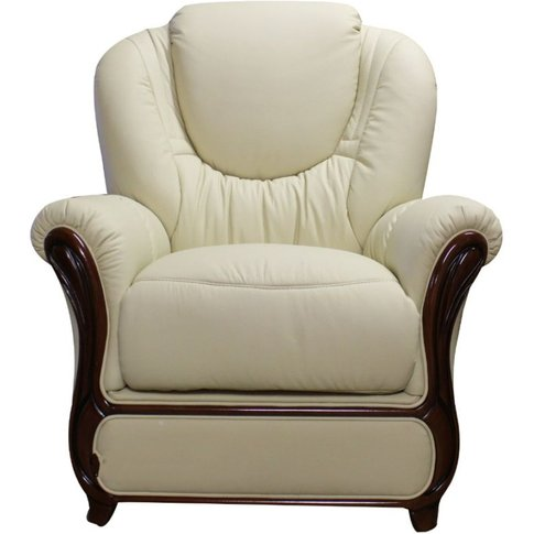 Mississippi Genuine Italian Sofa Armchair Cream Leather