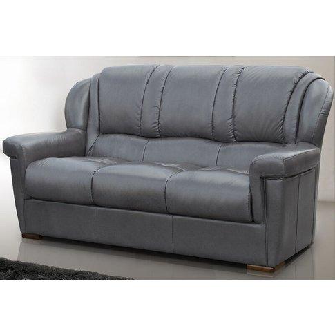 Lazio 3 Seater Sofa Genuine Italian Leather Dark Grey