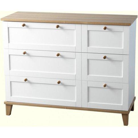 Arcadia *3 Drawer Chest In White/Ash Veneer