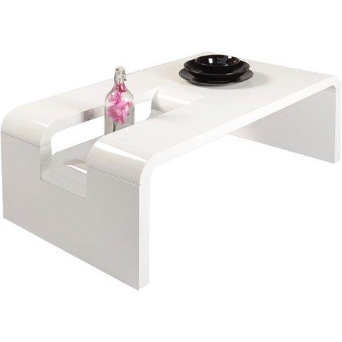 Jana Rectangular Coffee Table In White High Gloss