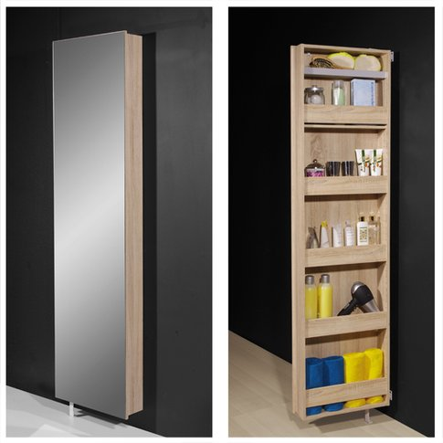 Igma Mirrored Rotating Bathroom And Shoe Storage Cab...