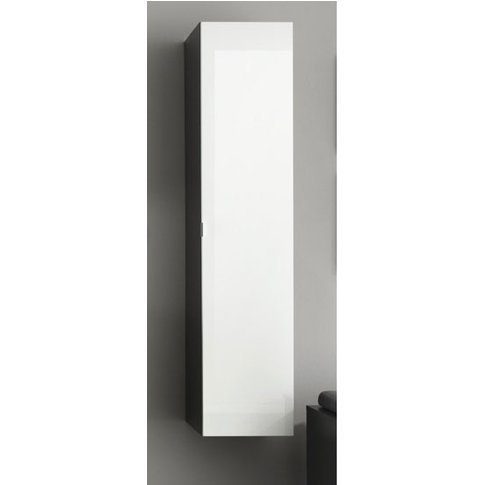 Beach Wall Mount Tall Grey Bathroom Cabinet In White...