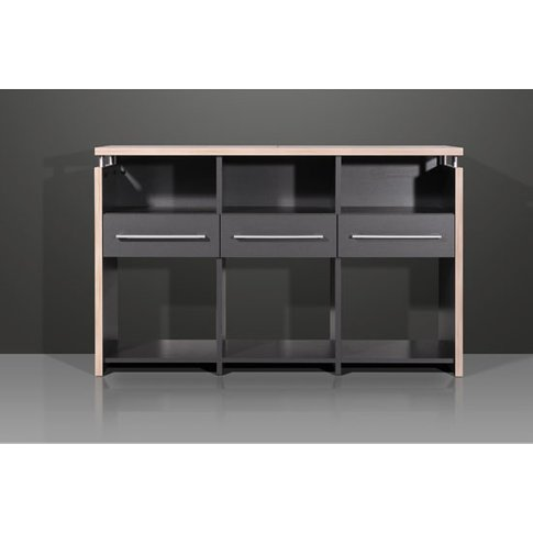 Duo Anthracite Wide Office Storage Cabinet