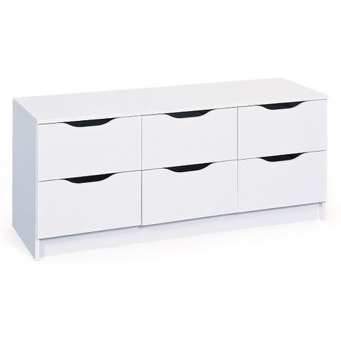 Crick Wide Chest Of Drawers In White With 6 Drawers